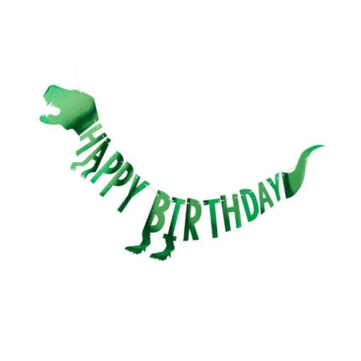 Girlande Happy Birthday - Dinosaurier
