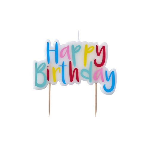 Party-Kerze Happy Birthday Bunt