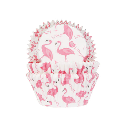 Papierbackförmchen - Flamingo