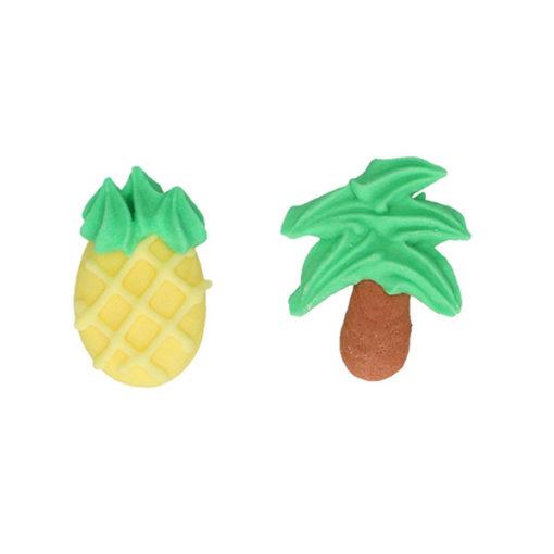 Zuckerdekor - Ananas und Palme
