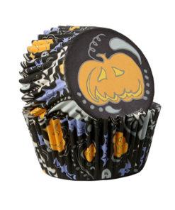 Papierbackförmchen - Halloween Kürbis