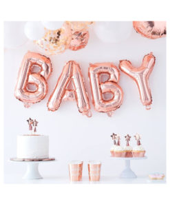 Ballon Baby rosé gold