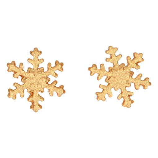Zuckerdekor - Schneeflocken gold 6 Stk.