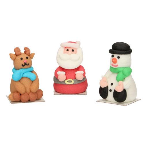 Zuckerdekor - Weihnachtsfiguren 3D