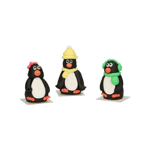 Zuckerdekor - Pinguine 3D