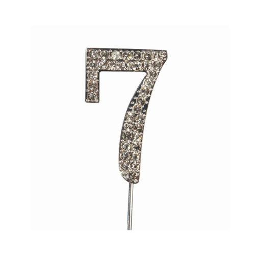 Cake Topper Diamant Zahl 7