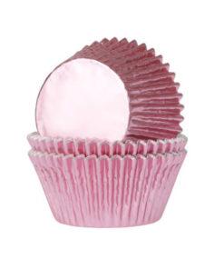 Papierbackförmchen - metallic pink