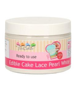 Cake Lace Mix für essbare Spitze perlweiss