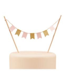 Cake Topper Pastel Bunting
