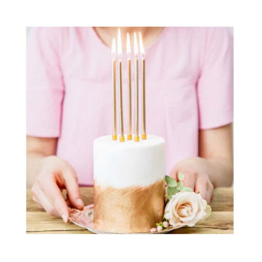 Geburtstagskerzen lang gold