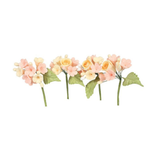 Pfirsich Zuckerblumen Bouquet Rosen
