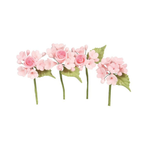 Mini Rosen Blumen Bouquet Pink
