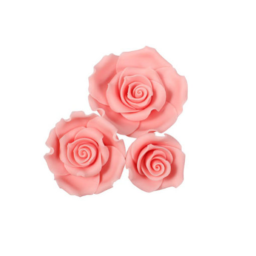 Zuckerrosen Mix Rosa - SugarSoft, 12 Stück