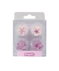 Zuckerdekor Blumen Lila
