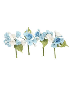 Mini Rosen Blumen Bouquet Blau