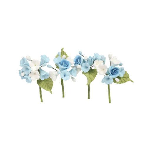 Mini Rosen Blumen Bouquet Blau