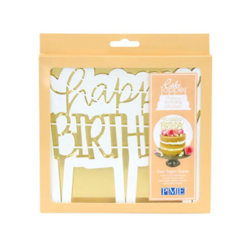 Cake Topper Ausstecher - Happy Birthday Modern