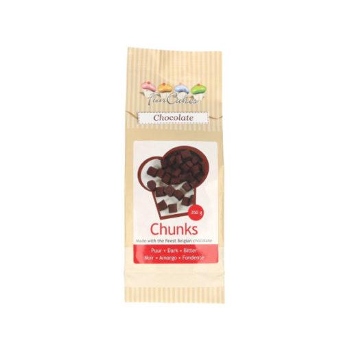FunCakes Chunks - Schokolade (dunkel)