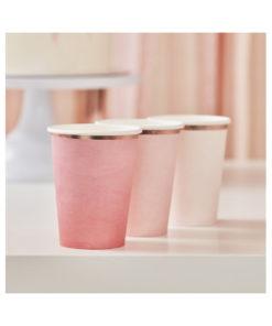 Pappbecher - Ombré Pink