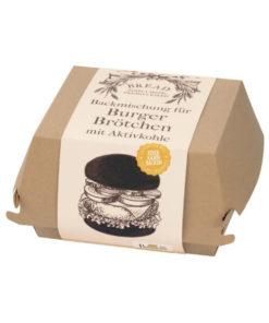 Backmischung Burger Box - Burger Brötchen mit Pflanzenkohle