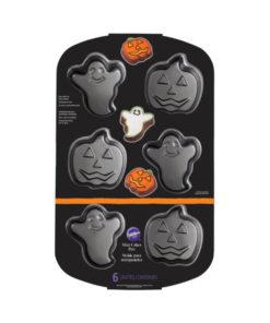 Backform Halloween - Geist und Kürbis