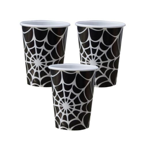 Pappbecher Halloween - Spinnennetz