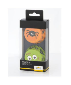 Papierbackform Halloween - Spinne und Monster