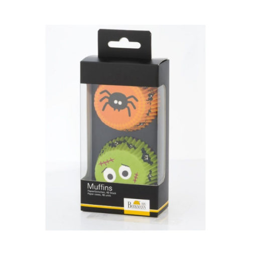 Papierbackform Halloween - Spinne und Monster