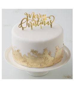 Cake Topper - Merry Christmas