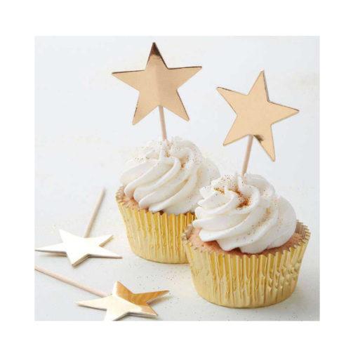 Cupcake Topper - Stern gold