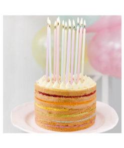 Geburtstagskerzen lang - pastel