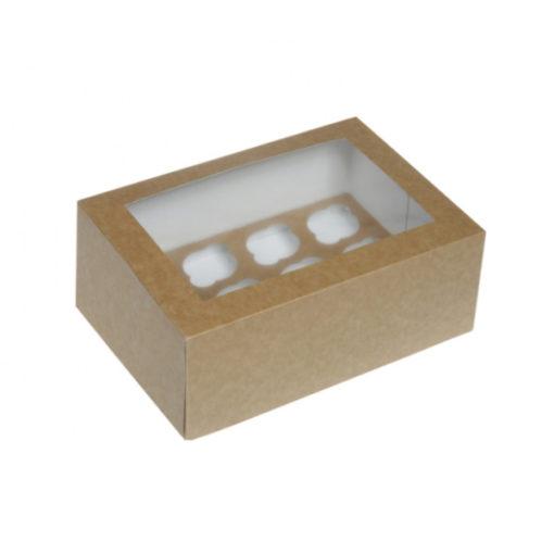 12er Cupcake Box - Kraftpapier mini