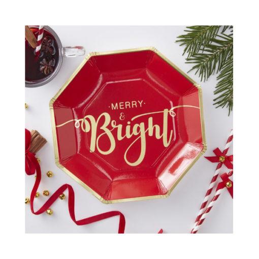 Papierteller - Merry & Bright