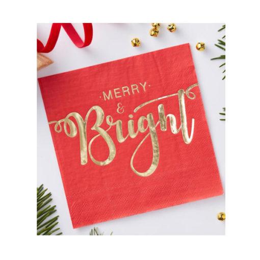 Servietten - Merry & Bright