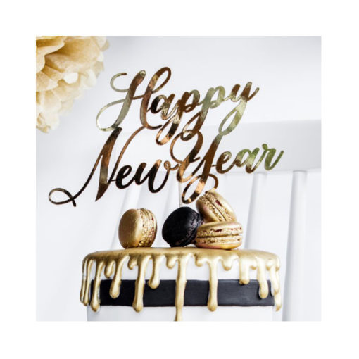 Cake Topper Happy New Year