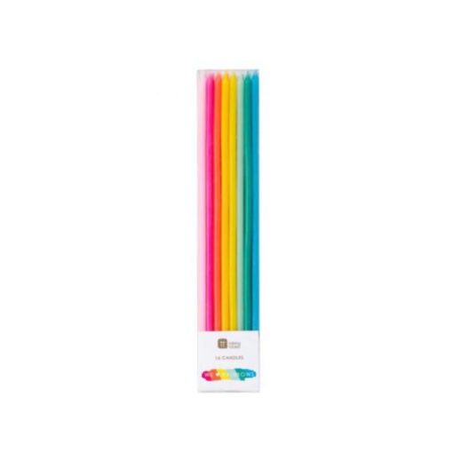 Geburtstagskerzen lang - Regenbogen