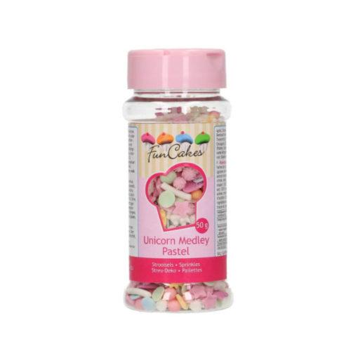 FunCakes Streusel - Einhorn Mix pastel