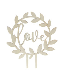 Cake Topper Love Holz