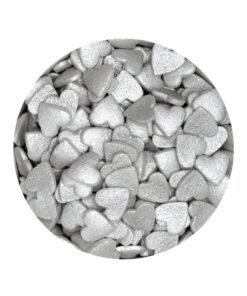 Streudekor - Zuckerherzen, silber