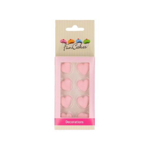 Zuckerdekor - Herzen rosa