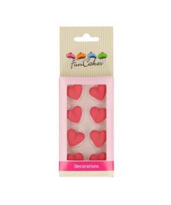 Zuckerdekor - Herzen rot