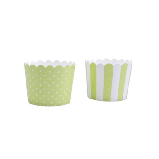 Papierbackförmchen 2er Set grün