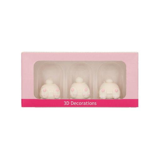 Zuckerdekor - Hasen Hintern 3D