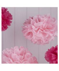 Pom Poms pink und rosa