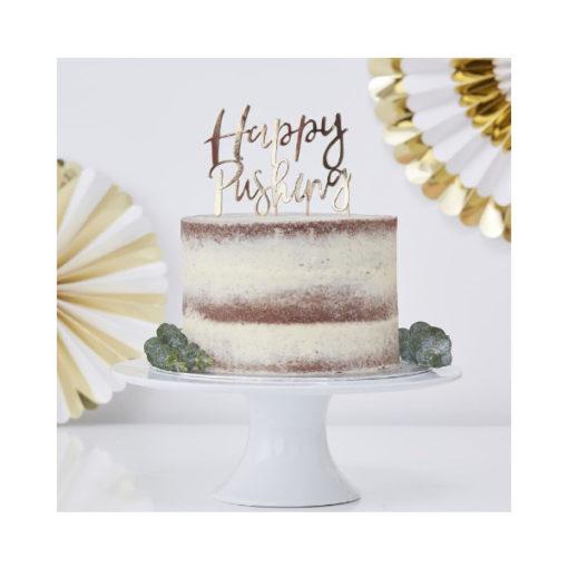 Cake Topper Happy Pushing