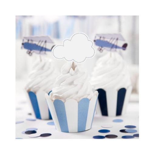 Cupcake Topper - Kleine Flugzeuge