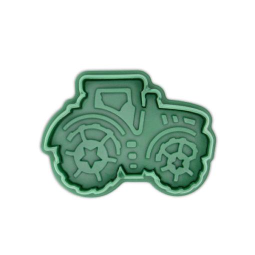 Ausstecher - Traktor, grün