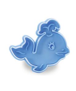 Ausstecher Wal, blau