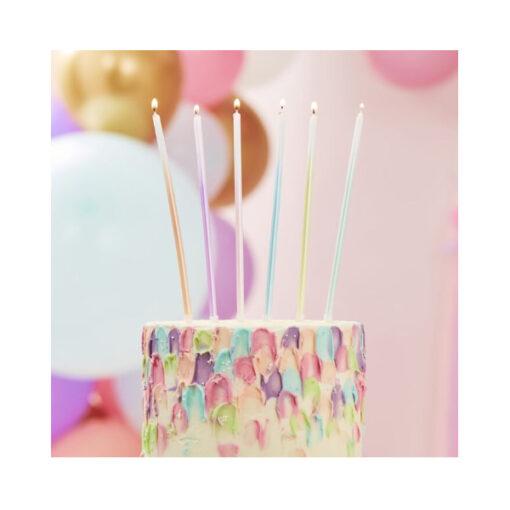 Geburtstagskerzen lang - ombre