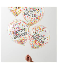 Ballon Konfetti - Happy Birthday